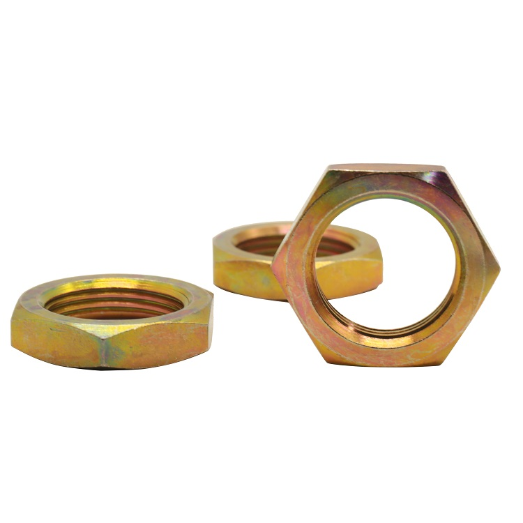 Wholesale auto parts Copper Nuts Hex Nut Custom OEM Lock Thin Brass Hex Nuts