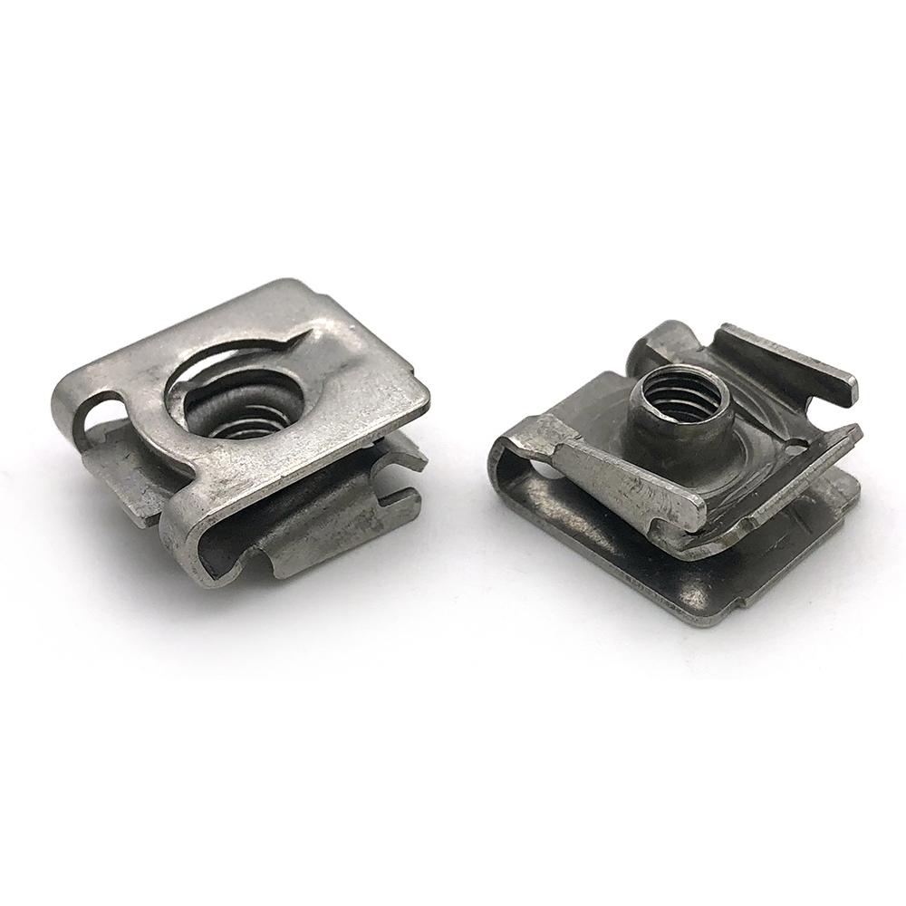 Customized Metal Auto Parts Fasteners U-Type Speed Nut Stainless Steel Spring U Shape Lock Nut U Clip Nuts