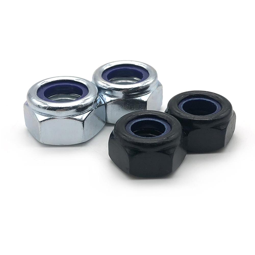 Wholesale customized Carbon Steel Zinc Plated Nylon Lock Nuts